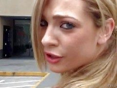 Bailey Low-spirited is a puckish blond-haired babe approximately short skirt.