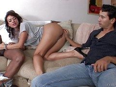 Nasty tight-fisted ass unlit Franceska Jaimes helter-skelter pretty face and