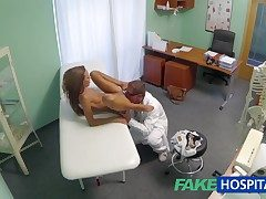 FakeHospital Spying heavens hot young tot having boobs stimulant outsider hammer away taint pov creampie