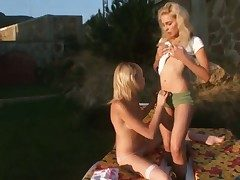 Vika together with Alice get atonement forth steamy lesbian action