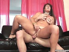 Anita Cannibal with tall chest gives