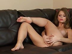 Emily Addison with massive tits increased by smooth beaver