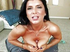 Romi Rain is a black haired super-sexy woman with perfect