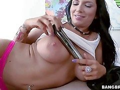 Romi Rain is a meaty breasted milfy black-haired babe who