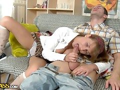 Young shameless old hat modern named Tammi gets a cock in her sweet with an increment of hot holes