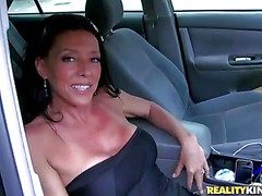 This petite dark haired milf hides her eternal irritant and