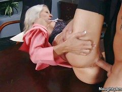 Astounding blonde essayist Emma Starr with seething hot erection and
