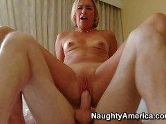 Sexy Suz is a slutty milf who takes hard young