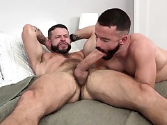 MANALIZED Brendan Patrick Blows a load While Hung Stud Fucks Him